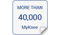 More than 40,000 MyKnee!